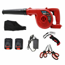 21V Lithium-ion 2 Batteries cordless 2-in-1 Blower with claw hammer scissors set