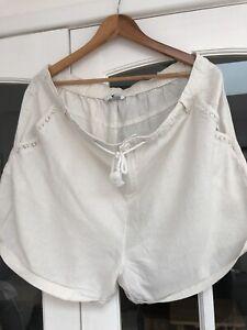 Size 20 Very Ladies Cream Linen Mix Cream Shorts Great Condition ☀️🥰