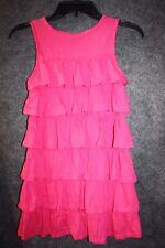 Mini Boden Little Girls' The Ruffle Dress Pink Sleeveless 6-7 Years