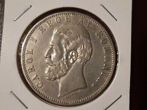 Romania Silver 5 Lei 1883