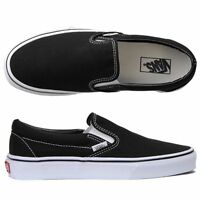 Vans Classic Slip On Black White Shoe NEW 100% AUTH -ALL SIZES- $50