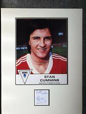 Stan Cummins Middlesbrough hand signed 16x12 mounted coa 1305