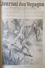 JOURNAL DES VOYAGES N° 870 de 1894 AFRIQUE MORT EXPLORATEUR MULLER GROENLAND