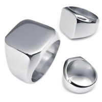Jewelry Men's Ring, Stainless Steel, Seal Ring, Silver (9) L4G4