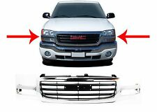 Replacement Chrome Grill For 2003-2007 GMC Sierra 1500 New Free Shipping USA