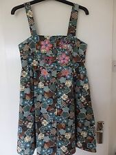 LAURA FOR TOPSHOP Dress Size S Small Retro Skull BIRD Rockabilly Vintage