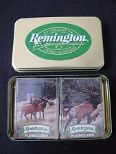 1990's COLLECTORS DOUBLE PACK OF PLAYING CARDS & TIN - REMINGTON GUNMAKER