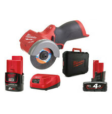 MILWAUKEE | M12 FCOT-422X Mini Smerigliatrice 12V FUEL 76mm + 2 Batterie 12V