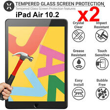 2Pcs Full 9H Tempered Glass Guard Apple iPad 10.2 Inch 7th Gen Screen Protector