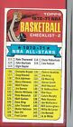 1970-71 Topps Basketball # 101 CHECKLIST