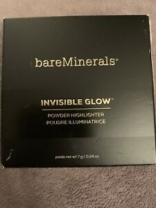 bareMinerals Invisible Glow Powder Highlighter Tan Full Size Fast Free Shipping!