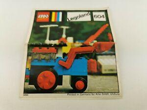 Lego®  nur Bauanleitung only building instructions 604 ExcavatorLegoland