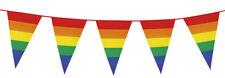 Guirlande de fanions arc en ciel rainbow gay pride carnaval decoration banniere