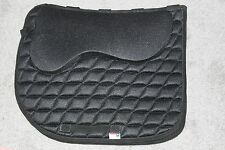 Hilason Black Saddle Pad Dressage Treeless Blanket Memory Foam English Non Slip