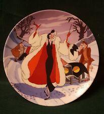 Notoriouse Disney Villians by Bradford Exchange  Cruella De Vil Collector Plate