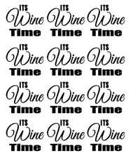 Its Wine Time Vinyl Decal Sticker Wine Glass Mug Kitchen Tumbler