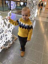 Boys Winter Crochet Sweater 4Y-5Y