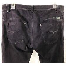 Diesel Darron 0064U Mens Stretch Regular Slim Fit Tapered Gray Jeans Size 33/34