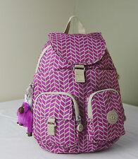 Kipling BP3839 Chevron Magenta Print Firefly Small Backpack