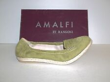 Amalfi by Rangoni Size 9 M Cielo Sedano Green Leather Flats New Womens Shoes