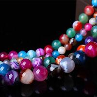 Vintage 5-40PCS Semi Precious Agate Gemstone Round Loose Beads 4/6/8/10/12mm Hot
