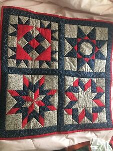 Mennonite Quilt Wall Hanging Lap Quilt New