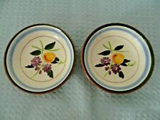 Stangl Pottery Fruit & Flowers Pattern Pair of Small Bowls