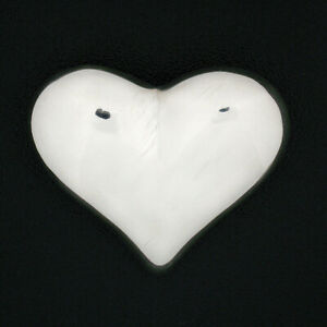 Tiffany & Co. Solid .925 Sterling Silver Puffed Heart Polished Finish Brooch Pin