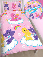 CARE BEARS REVERSIBLE SINGLE bed QUILT DOONA COVER SET NEW teddy