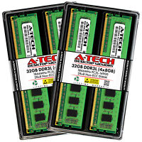 A-Tech 32GB (4 x 8GB) PC3-14900 Desktop DDR3 1866 MHz DIMM Memory RAM PC3L DDR3L