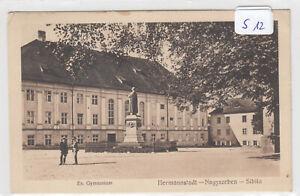 S12, Hermannstadt das evangelische Gymnasium Vorplatz gelaufen 1928 !