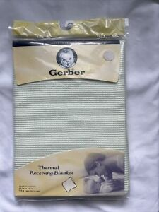 Gerber Thermal Knit Receiving Blanket NIP USA