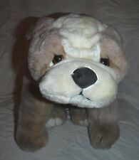 "WINSTON Bulldog 1990  1990 Pug Vintage 17"" Plush Soft Toy Stuffed Animal"