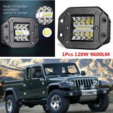 1pcs 120W Flush Mount Car Truck Spot Flood LED Work Light Bumper Reverse Lamps
