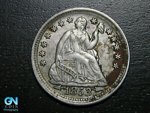 1853 P Seated Half Dime --  MAKE US AN OFFER!  #B2270