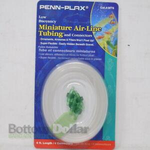 Penn Plax MT6 Low Buoyancy Miniature Air-Line Tubing 6 Ft Long With 4/Connectors