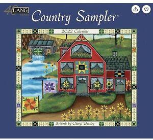 Lang Country Sampler Large Wall Calendar 2022- Cheryl Bartley