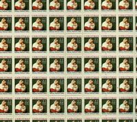#2367 Christmas Madonna 22 cent 1987 full mint sheet of 100 MNH OG