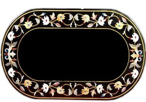"""36"""" x 22"""" Marble Table Top stones Inlay handcrafted marquetry art Work"""