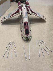 Star Wars REPUBLIC CRUMB BOMBER Gunship & 2 x Pilots