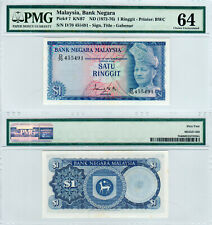 Malaysia $1 P#7 (1972-1976) 2nd Series PMG 64