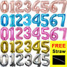 """32"""" Giant Foil Number Air Helium Glitz Large Balloons Birthday Party Wedding NEW"""