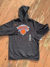 Nike New York Knicks NBA Club Logo Hoodie - Mens Black Size L black