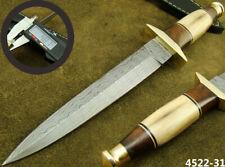 "ALISTAR 11"" HANDMADE DAMASCUS STEEL DOUBLE EDGE HUNTING DAGGER KNIFE 4522-31"