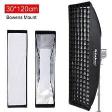 "Godox Strip Beehive Softbox 30x120cm 12""x47"" w/ Honeycomb Grid Bowens Mount"