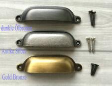 96 mm Muschelgriffe Griffe Möbel Schubladen Griff Silber Bronze Gold Schwarz