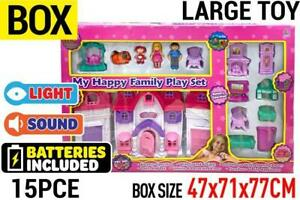 My Happy Family House Toy Set with light&sound Batt operated Girl Holiday Gift