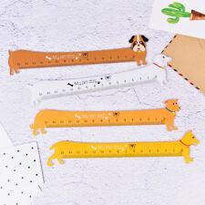 Lovely Dog Shape Ruler Mini Plastic Straight Ruler For Kids School Supplies DSHC