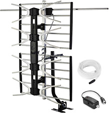 New ListingPbd Outdoor Digital Hd Tv Antenna With High Gain Amplifier 150 Mile Long Range F