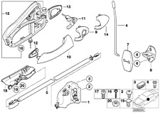 BMW E53 X5 Front Driver Left Integrated Power Door Lock Latch Actuator Motor